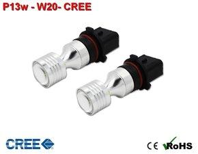 2x P13w-W20-CREE Wit