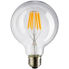 E27 Vintage G95 led lamp 6w warmwit Dimbaar
