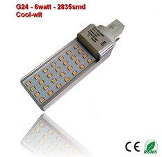 PL-G24d-6w-2835smd Cool-Wit 600 lumen