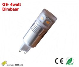 G9 -4 watt Warmwit Dimbaar