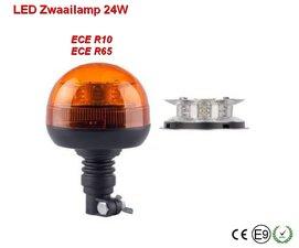 LED zwaailamp met flexibele voet 24w Oranje ECE/R65
