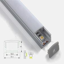 Aluminium ledstrip profiel opbouw 100cm