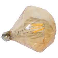 E27 Vintage G95 diamant led lamp 3,5w gold warmwit Dimbaar