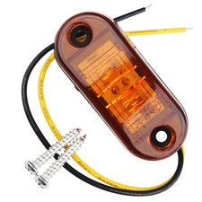 Led sidemarker contourverlichting 2led 12/24V oranje