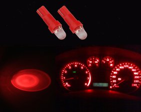2 x T5-286  1 led dashboard-lampjes rood