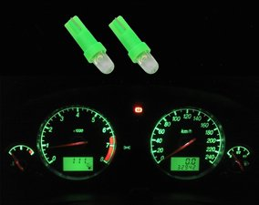 2 x T5-286  1 led dashboard-lampjes groen