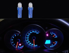 2 x T5-286  1 led dashboard-lampjes blauw