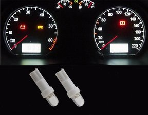 2 x T5-286  1 led dashboard-lampjes wit