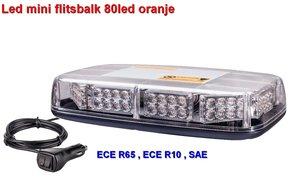 Led mini flitsbak 28cm- 50w Oranje R65-R10 keurmerk