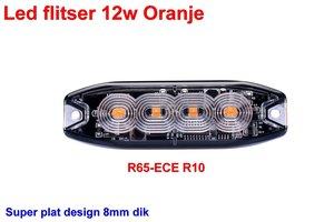 Led flitser 12W Oranje R65-ECE R10 Slim