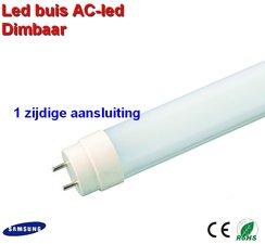 LED TL buis 120cm AC led Dimbaar Warm-wit - 1 zijdige aansluiting