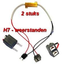 2x H7-Resistors 50W 6ohm voor LED lampen