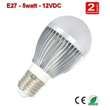 E27 lamp 5watt Warm-wit 12volt.