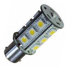 BA15S-15smd Warm-wit  - met lichtsensor 10-30v