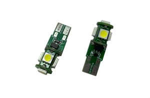 2x T10-5SMD rood-12Volt