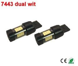 7443- ledlamp dubbele functie met 2835SMD - 950lumen