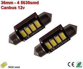 2x 12v Canbus 36mm 4x 5630SMD (120 lumen)