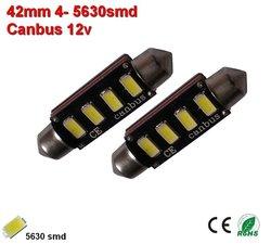 2x 12v Canbus 42mm 4x 5630SMD (120 lumen)