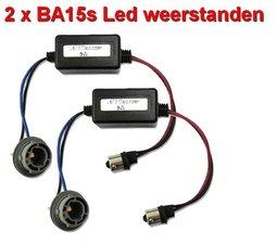 2 Resistors voor BA15sLED lampen