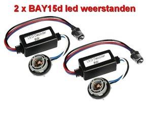2 Resistors voor BAY15dLED lampen