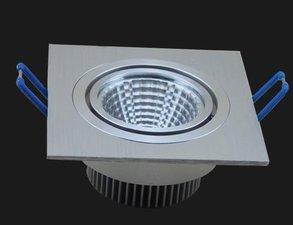 LED Cob Inbouwspot 12w Vierkant warm-wit 1200 lumen Dimbaar