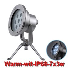 LED Onderwater-spot 7x3w Warm-wit -24volt
