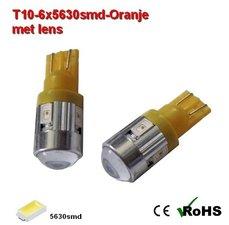 2x  T10  6x5630smd-Oranje12v