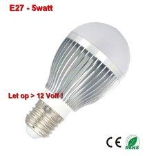 E27 lamp 5watt Warm-wit 12volt.