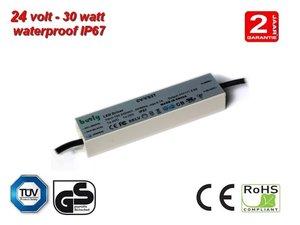 30w LED Voeding 24v TUV gekeurd IP67 waterproof