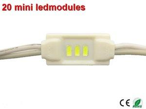 20 x Mini Led Modules Warm-wit Ip65