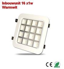 Inbouw-unit 16x1w Warmwit 1600 lumen