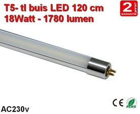 120cm LED TL lamp T5 - 18watt - 1780 lumen Cool-wit