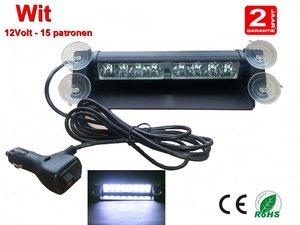 LED Dashboardflitser-8watt Wit - 15 patronen