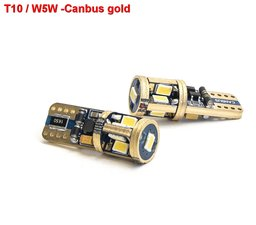 2x T10/W5W Canbus Gold 9smd  400lumen