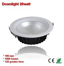 Downlight COB 20w Warm-wit 1800 lumen