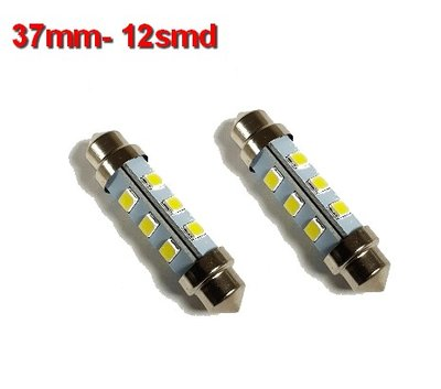 Buislampen 37mm 2835smd Cool-wit 10-40v