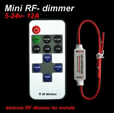 Ultra-mini-Dimmer + remote-RF gestuurd