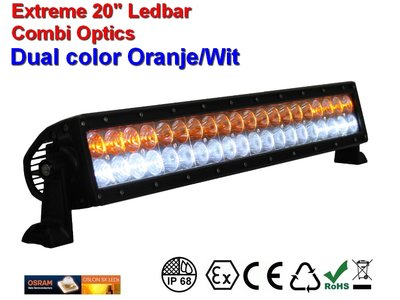 Extreme 20 inch All weather ledbar 120w Combi AR Optics - Wit-Oranje