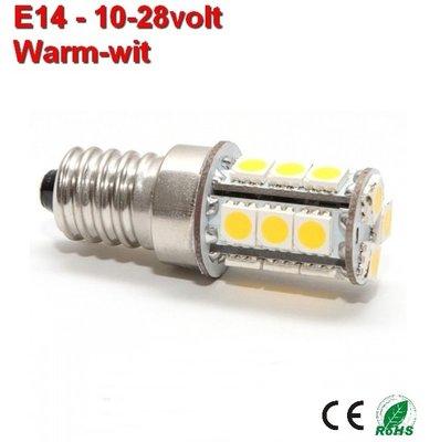 E14 18 smd Warmwit 10-28v