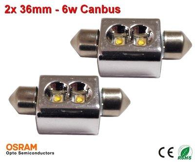 2x 12v Canbus 36mm 2x osram - 110 lumen