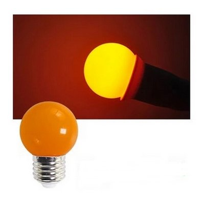 E27 Party ledlamp 1,5 watt oranje Mini IP65