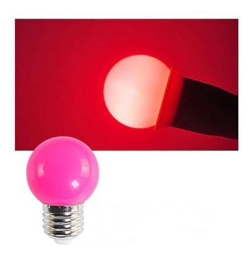 E27 Party ledlamp 1,5 watt roze Mini IP65