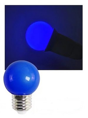 E27 Party ledlamp 1,5 watt Blauw Mini IP65