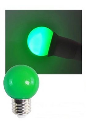 E27 Party ledlamp 1,5 watt Groen Mini IP65