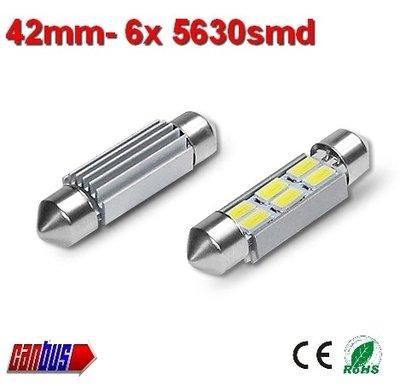2x 12v Canbus 42mm 6 x 5630smd- 190 lumen