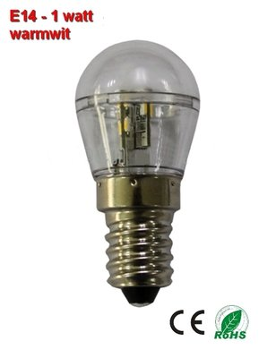 E14 Mini LED lamp 1w Warmwit