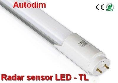 120cm LED TL Radar sensor autodim 18watt -1850 lumen- Cool-wit