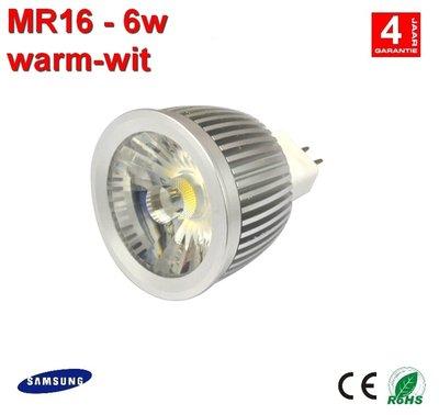 MR16-ledspot 6w Samsung Warm-wit 410Lumen