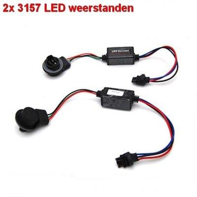 2 Resistors voor 3157 ledlampen