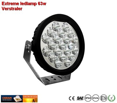 Extreme Led verstraler 63w Combi AR Optics - 5.400 lumen
